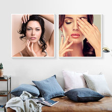 Fashion Creative Makeup Poster Paintings Beauty Studio Decoration Picture School Classroom Wall Art PD2590