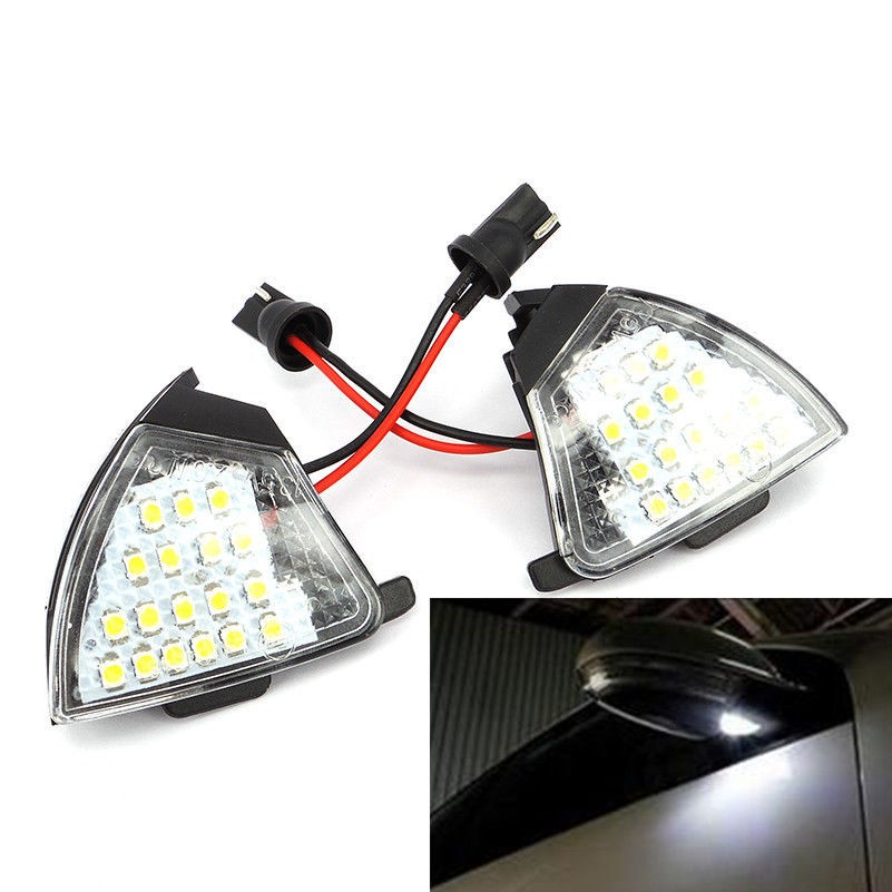 Pair LED Side Mirror Puddle Light VW Golf 5 MK5 MKV Passat B6 Jetta Eos/VW Passat CC 2009+/Sharan MK2 7N 2010+/Touran 2011+