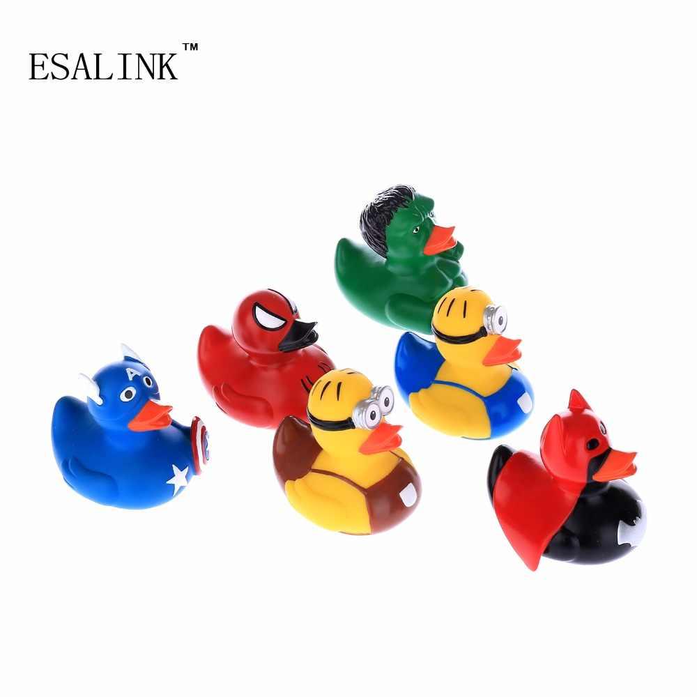 Marvel/DC серии герой 6 шт много Детские игрушки для бассейна поплавок Rubber Duck для детские игрушки для игры в воде игрушки для плавания Badspeelgoed