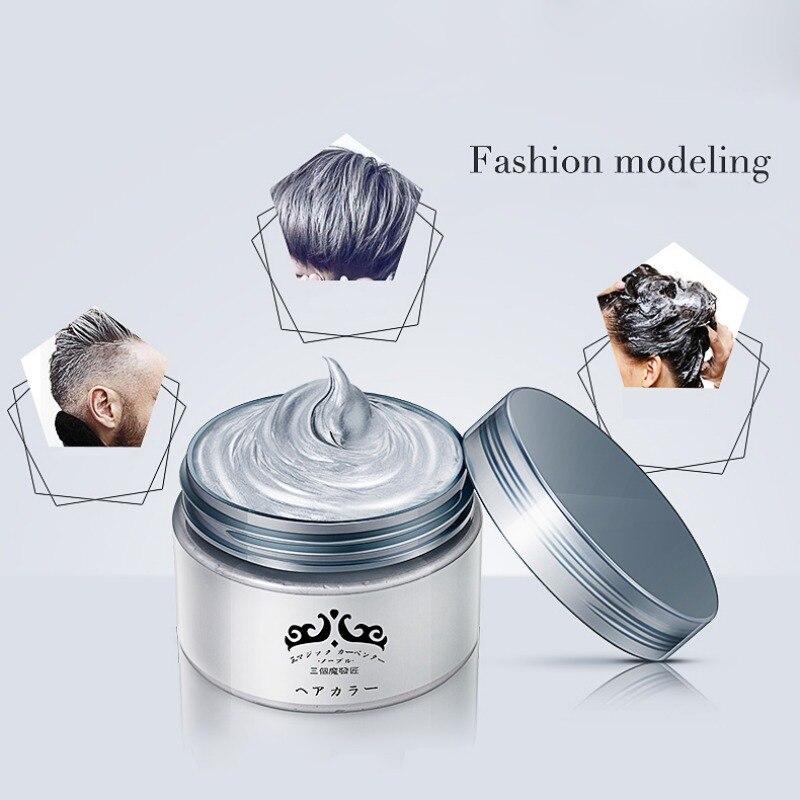 7 couleurs unique pâte de moulage Style de cheveux couleur de cheveux grand-mère gris boue japon couleur cire One-tTme cheveux colorants