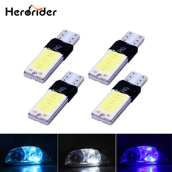 Herorider 4pcs T10 LED Light Bulbs 194 168 W5W COB Canbus No Error Parking Brake Dashboard Lamps White Blue Crystal Blue image
