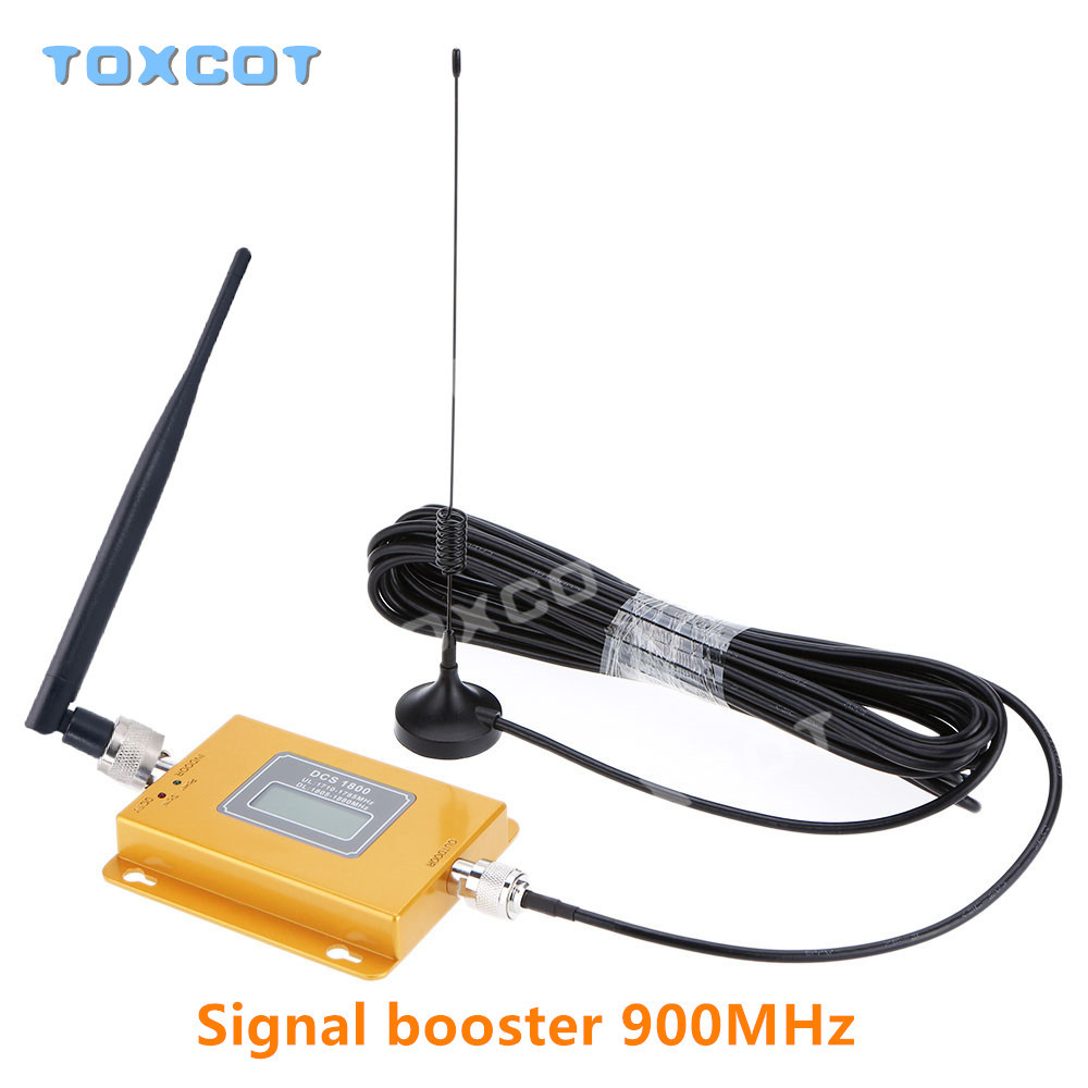 LCD GSM 900Mhz 2G Repeater Mobile Phone Signal Booster GSM980 Signal Repeater Cellular Amplifier + Cable + Antenna