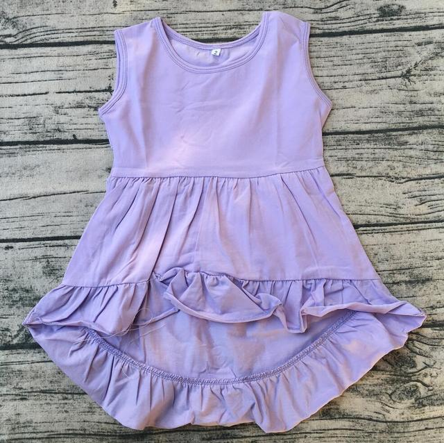 10a56f8351eb Girls Summer Boutique high low top dress with cotton frock designs ...