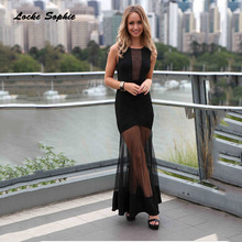 1pcs High waist Ladies Plus size Sexy party dresses 2019 Autumn cotton mesh Splicing hollow out Dress womens Skinny