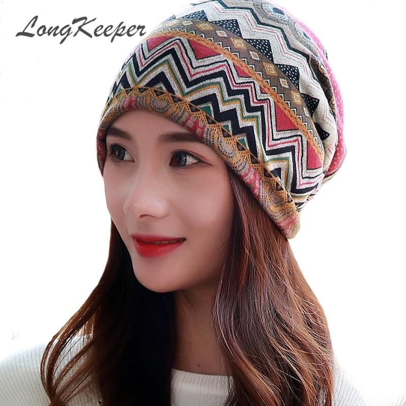 Long Keeper Women Hat Female Autumn Beanies Hat Cap Hip Hop Casual Skullies & Beanies Bonnet Femme Winter Hat Girl Gorro