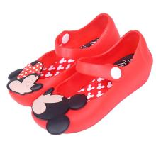 2015 Jelly shoes Mini Melissa Sandals Cute Minnie Girls Children Mitch Baby Shoes For size 24-29