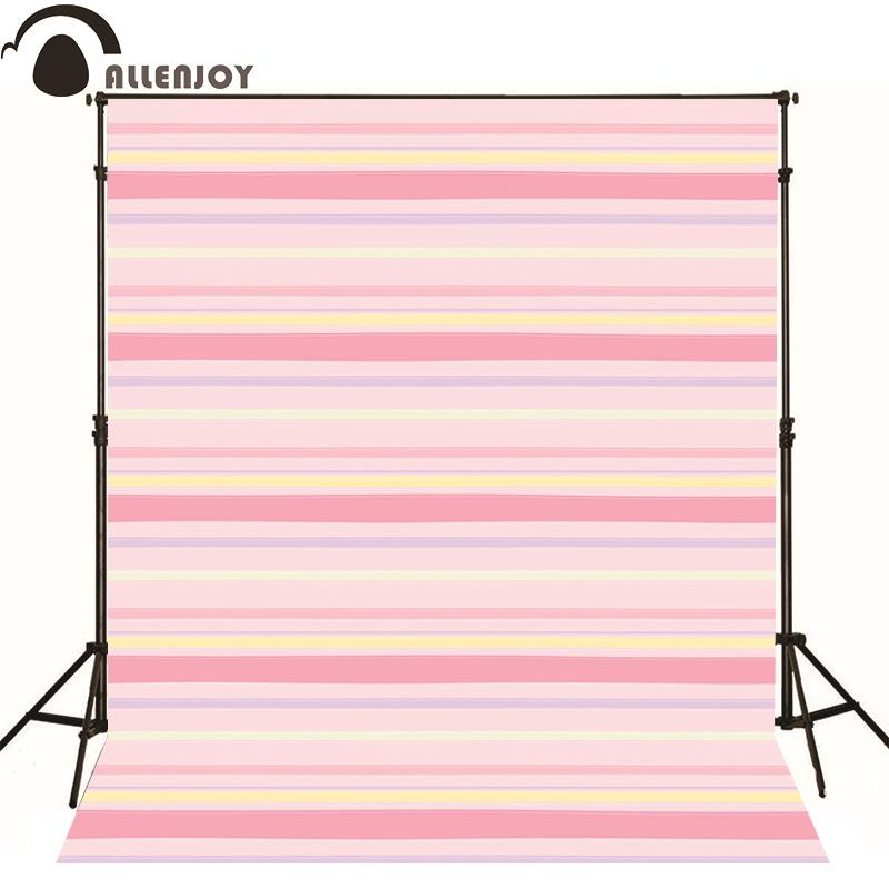 Allenjoy photographic background Pink white yellow lines kids boy send folded fabric photography backdrops