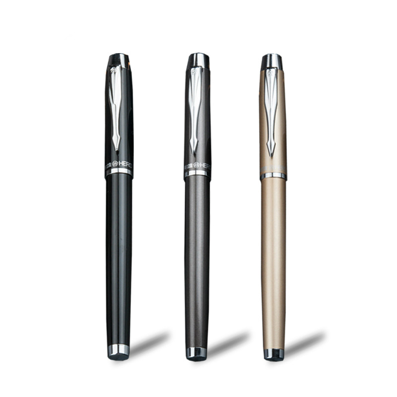 HERO 7006 Fountain Pen Three Nib High Grade Business Office Signature Ink Pen Student Writing Pen Three in One Gift Suit lovely student pen for writing 0 5mm nib hero 359 fountain pens office