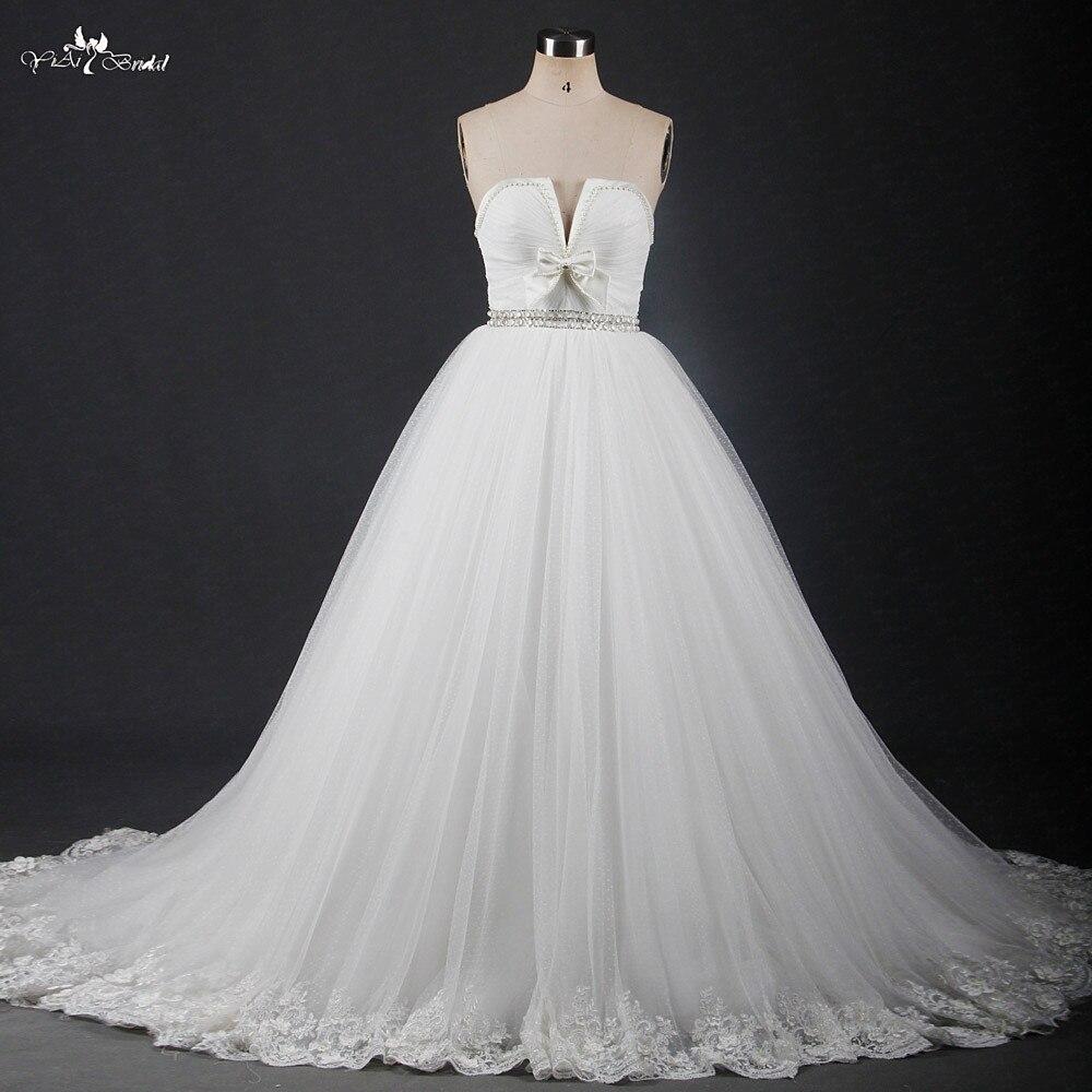 Rsw1205 с милым бантом v образный вырез пышные Тюлевая юбка для беременных свадебное платье Vestido Noiva princesa