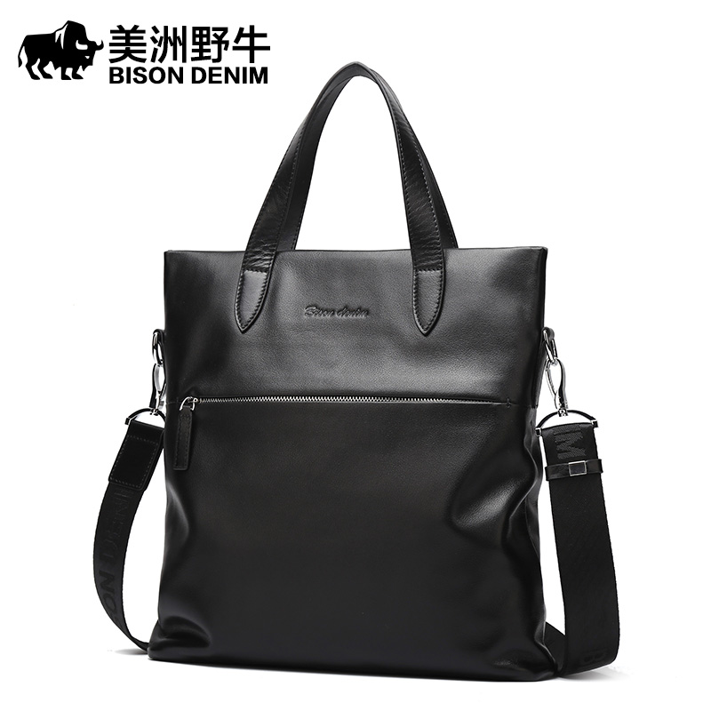 185f79f39141 Подробная Информация О продукте: Click here!! BISON DENIM известных брендов  сумки мужские новый сумка через плечо ...