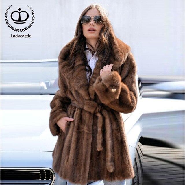 7b8ff2ae7 2018 New Hot Sale Real Mink Fur Women Fur Coat With Thicken Hooded Slim  Belt Mink Fur Coats Of Women Fur Jacket Real MKW-063