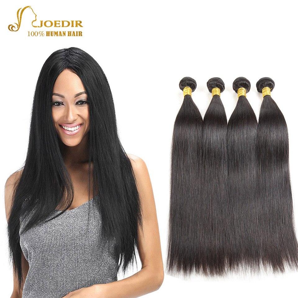 Joedir Peruvian Human Hair Bundle Whole Sale Bundles of Weave Natural Color Four Bundles Weft Hair Extensions Free Shipping