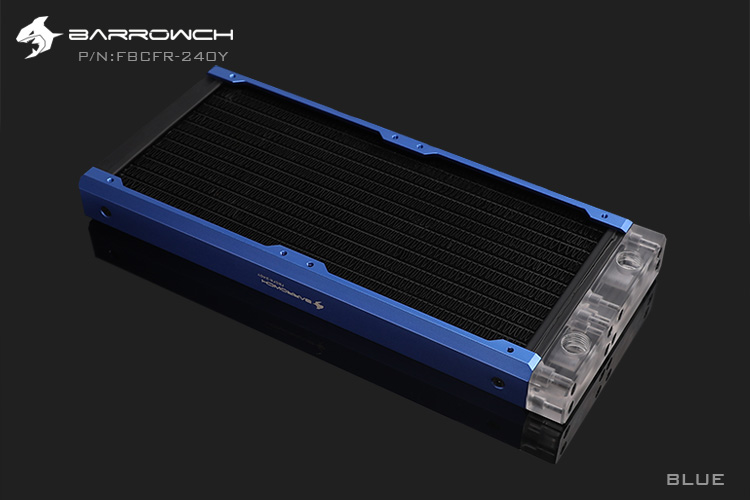 BARROWCH 240 мм радиатор POM/акриловое издание модульный Хамелеон рыбы съемный мульти-красочный FBCFR-240 новое поступление - Цвет лезвия: Blue Acrylic