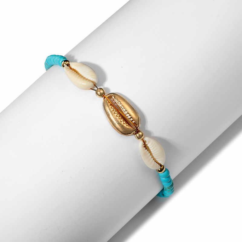 Minimalistyczna biżuteria trzy powłoki obrączki geometryczny niebieski kolor liny metalowe obrączki bransoletki prezenty zaręczynowe
