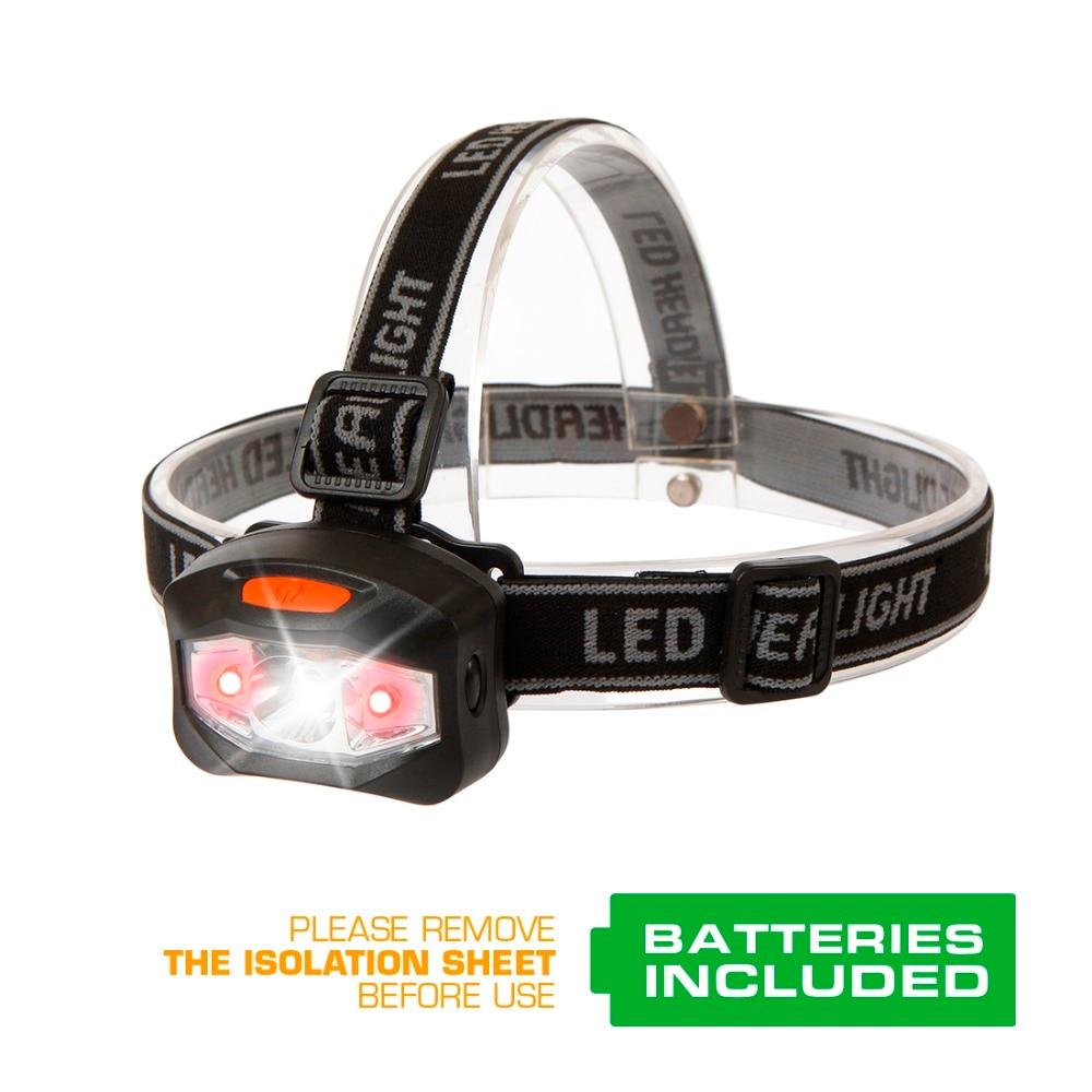 Everbrite proiettori a led Q5 testa della lampada Del Faro di Pesca escursione di campeggio luce di emergenza