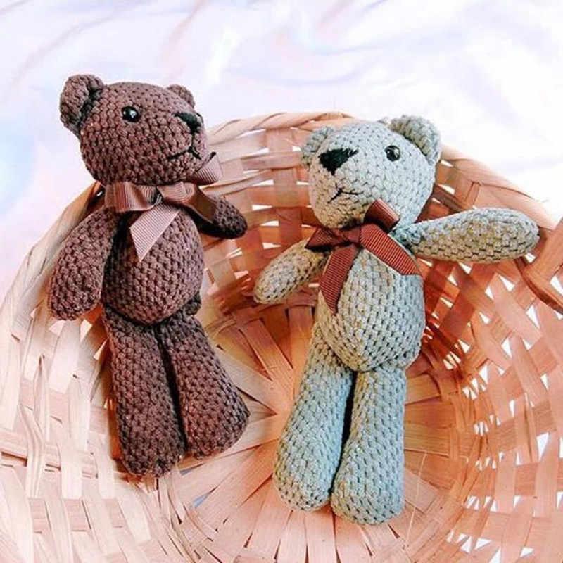 Pompom De Pele de Pelúcia bonito Mulheres Urso de Brinquedo de Pelúcia Boneca Chaveiro Trinket Chaveiro Cadeia Chave Do Carro do Saco Das Mulheres da Festa de Casamento Dos Namorados presente