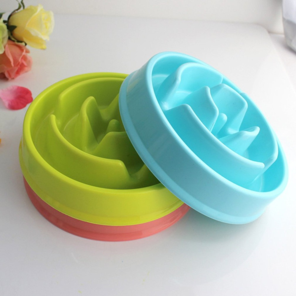 2018 Portable Pet Dog Feeding Food Bowls Puppy Slow Down Eating Feeder Dish Bowel Prevent Obesity Dogs Supplies Dropshipping