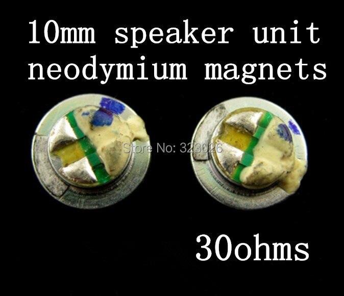 10 mm-es hangszóróegység Diy hangszóró eredeti fülhallgató - Hordozható audió és videó
