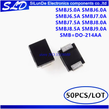 50pcs SMAJ15A 15V SMA DO-214AC TVS Diodes