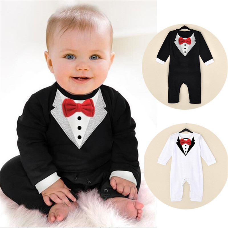 Baby   Rompers   Spring Baby Boy Clothes Gentleman Newborn Baby Clothes 2017 Autumn Baby Clothing Sets Cotton Infant Jumpsuits