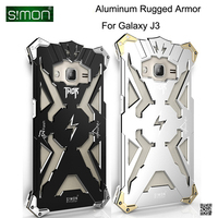 Drop Resistance Aluminum Metal Rugged Armor Cover Case For Samsung Galaxy J3 2016