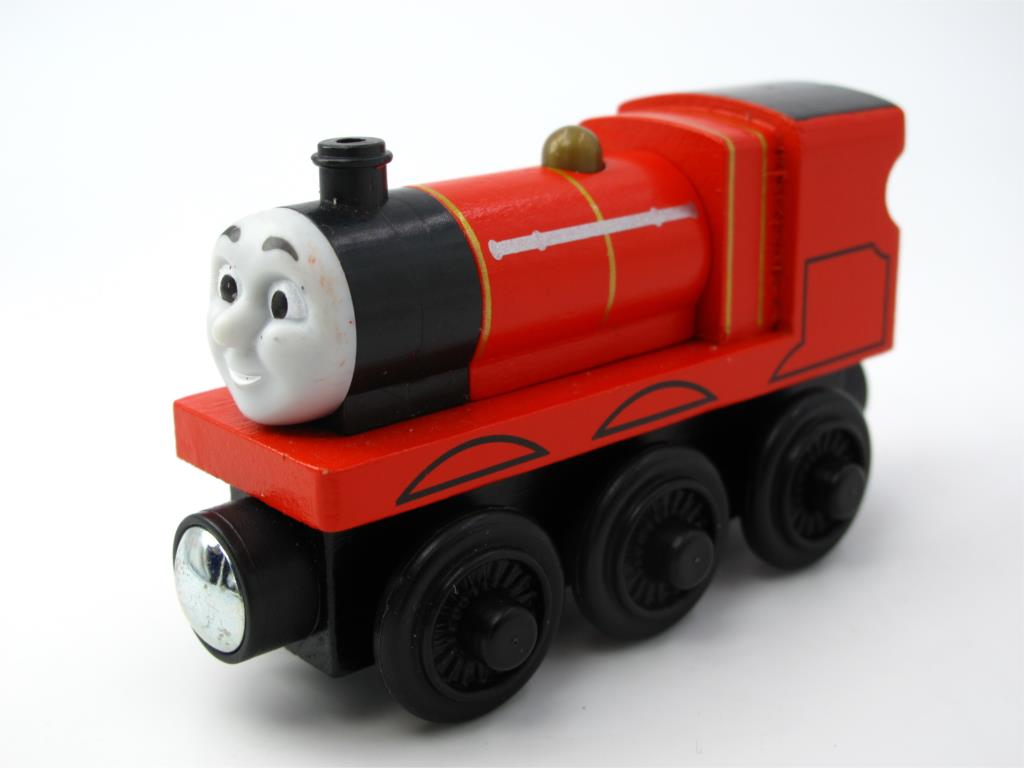 Wooden Thomas Train T077W JAMES Thomas And Friends Trackmaster Magnetic Tomas Truck Car Locomotive Engine Railway Toys for Boys