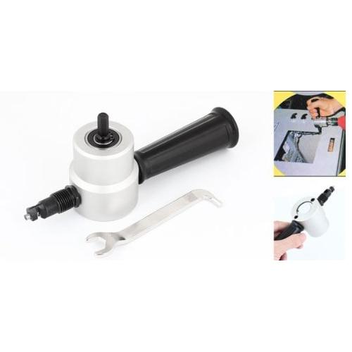 5pack Gary Black Double Head Sheet Nibbler Metal Cutter Drill Attachment