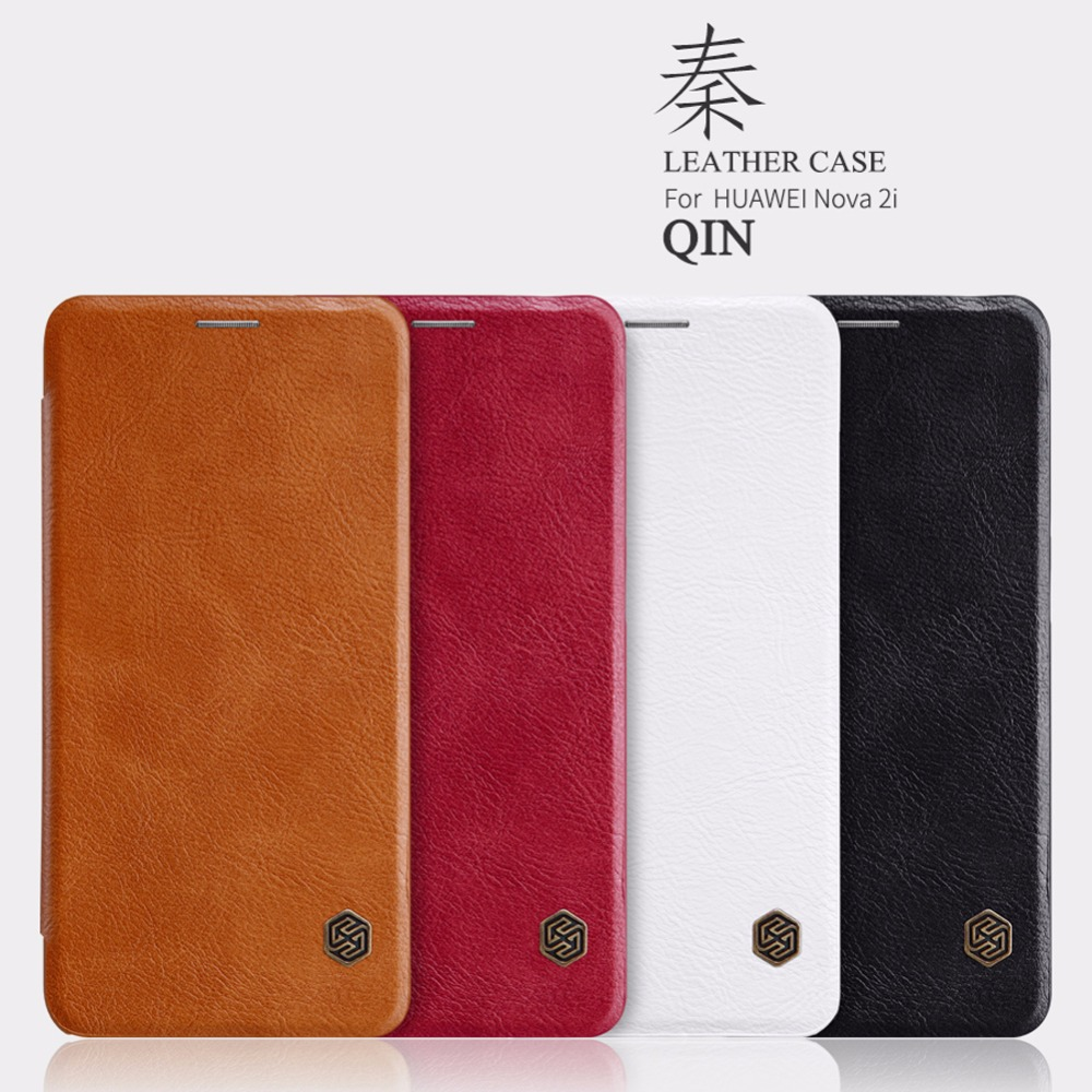 NILLKIN QIN Series Flip Leather Case Huawei Nova 2i / Mate 10 Lite Luxury Brand Lid Case Cover For Huawei Nova 2i / Mate 10 Lite