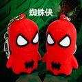 Superhéroe Spiderman LED llaveros llaveros The Avengers The Amazing Spider Man del Metal llavero colgante Chaveiro