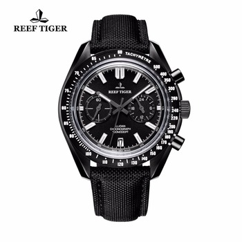 2021 New Reef Tiger/RT Designer Sport Watches with Chronograph Date Leather Nylon Strap Super Luminous Watch for Men RGA3033 1