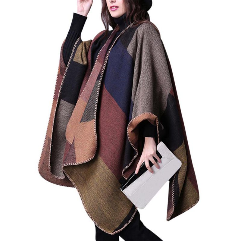 Autumn Womens Sweater National Wind Cloak Thick Ladies Sweaters Cardigan Long Sweater Christmas Sweater pull femme hiver W1