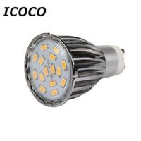 ICOCO 4 x GU10 15 SMD5630 6วัตต์จุดไฟLEDหลอดไฟที่มีคุณภาพสูงสีขาวอบอุ่น/วันสีขาวอลูมิเนียม
