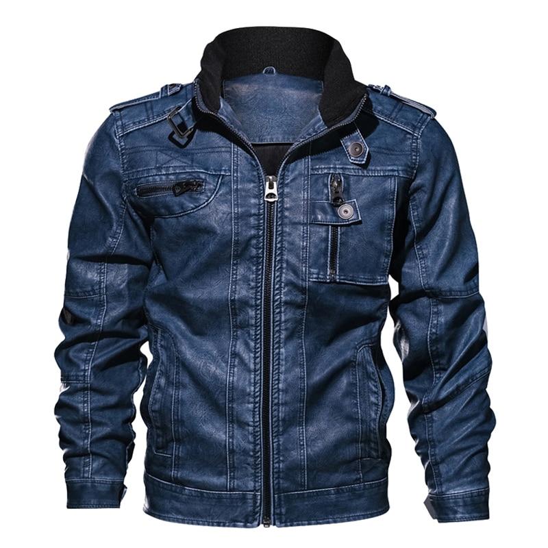 Grande taille 6XL 7XL hommes veste en cuir synthétique polyuréthane en cuir manteau automne Slim Fit Faux cuir moto vestes hommes manteaux en cuir veste manteau hommes