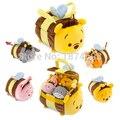 Tsum tsum mini plush toys pote de mel bumble bee transportadora tote sacos de leitão bisonho tigger urso bonito macio crianças toys presentes