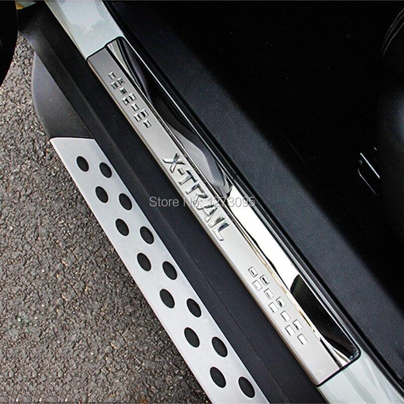 Pour Nissan X-trail X Trail XTrail T32 T31 2008-2016 2017 2018 Inoxydable Porte Sills Kick Plaques protecteur Car Styling Accessoires