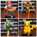 Super Mario Pikachu The Legend of Zelda Ligação Samus Aran PVC Figuras de Ação Colecionáveis Brinquedos Modelo 4 pçs/set OTFG190