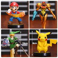 Super Mario Pikachu The Legend of Zelda Link Samus Aran PVC Action Figures Collectible Model Toys 4pcs/set OTFG190