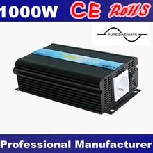 DC12V 24 V 48 V дo AC 100 V~ 120 V 220 V~ 240 V 1000 W инвертор с чистым синусом Мощность постоянного тока в переменный конвертер, 50 Гц/60 Гц переключаемый