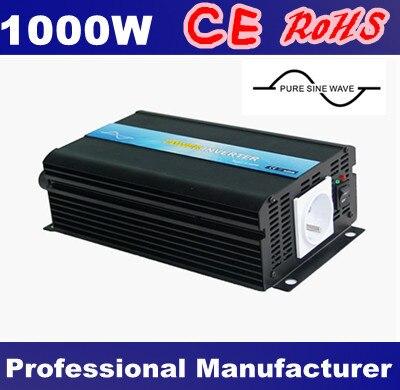 DC12V 24 V 48 V дo AC 100 V ~ 120 V 220 V ~ 240 V 1000 W инвертор с чистым синусом Мощность постоянного тока в переменный конвертер, 50 Гц/60 Гц переключаемый