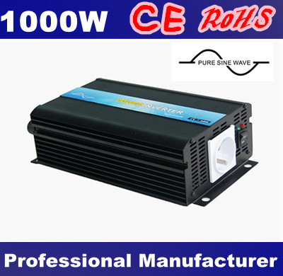 DC12V 24V 48V to AC 100V~120V 220V~240V 1000W Pure Sine Wave Power Converter,50hz/60hz switchable