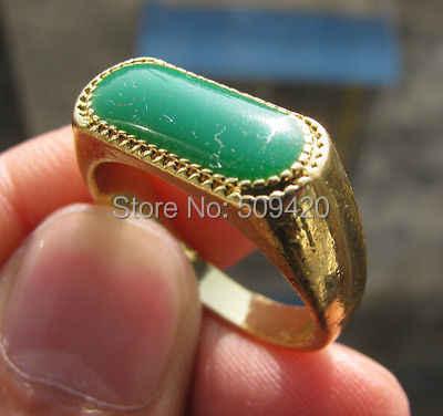 XFS2014102 > > แหวนหยกชายหรือหญิงสีเหลืองแหวน SIZE11