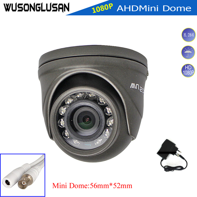 AHD 1080 p מצלמה מיני כיפת 2MP מלא HD מתכת מקרה פנימי/חיצוני עמיד למים IR לחתוך מסנן ראיית לילה עבור אבטחת CCTV צג