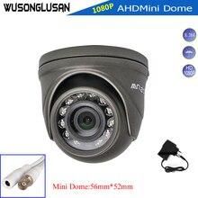 Ahd 1080 p câmera mini dome 2mp completa hd caixa de metal interior/exterior à prova dwaterproof água ir corte filtro visão noturna para cctv monitor segurança