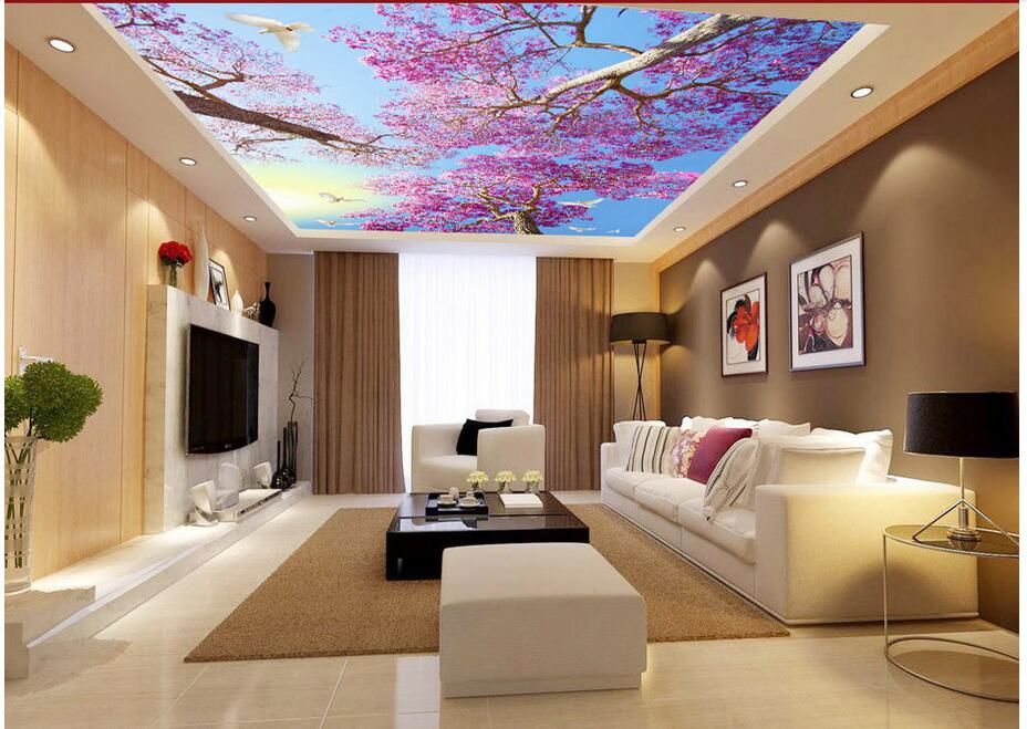 3d ceiling murals wallpaper custom photo non-woven The cherry trees doves painting 3d wall mural wallpaper for living room 3d ceiling murals wallpaper custom photo non woven flowers dove in the sky painting 3d wall mural wallpaper for living room