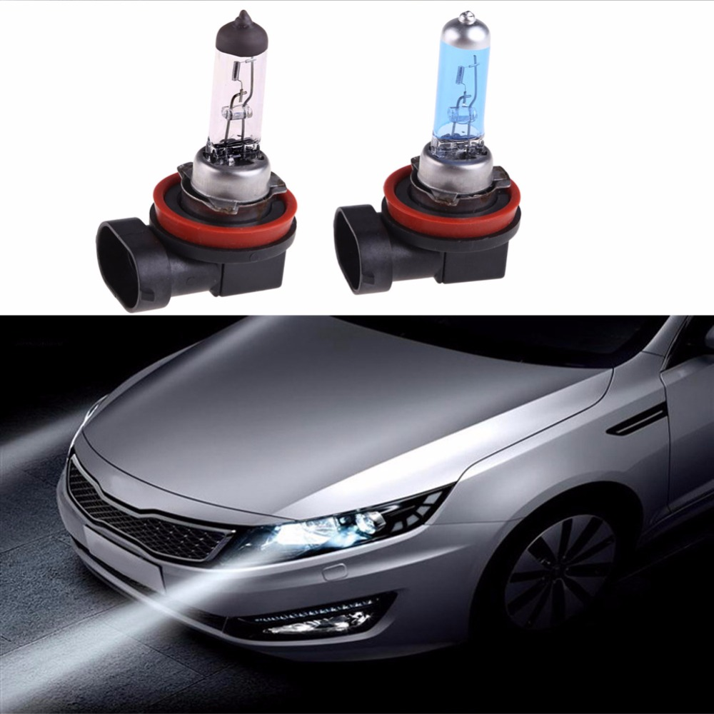 2Pcs Car Fog Light Halogen Car Headlight Bulb Automobiles External Light Lamp Warm White/White H11 12V 55W Headlamp for Boat 2pcs warm white xenon h4 55w p43t car light source h4 halogen bulb 60w 55w auto motorcycle car led headlight headlamp fog 12v