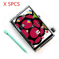 Free Shipping 5pcs Lot Raspberry Pi 2 LCD 3 5 Inch TFT Touch Screen Display Kit