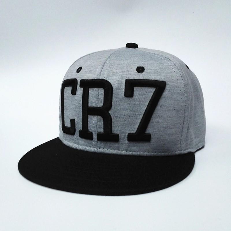 2016-new-Cristiano-Ronaldo-gray-CR7-Baseball-Caps-hip-hop-Sports-Football-hat-men-women-Snapback