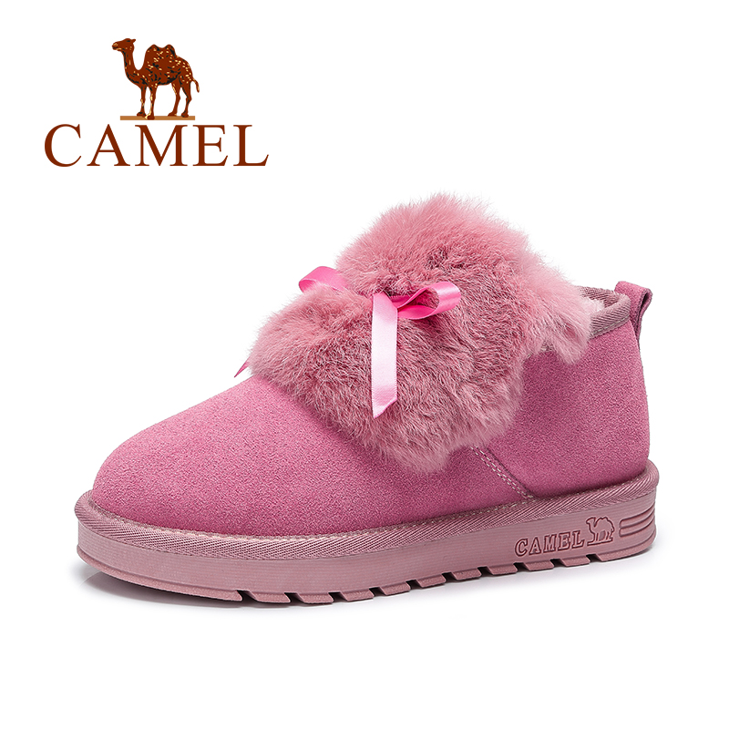Camel Girl Women Snow Boots Ankle Short Fur Casual Winter Boots Slip-on A64502616