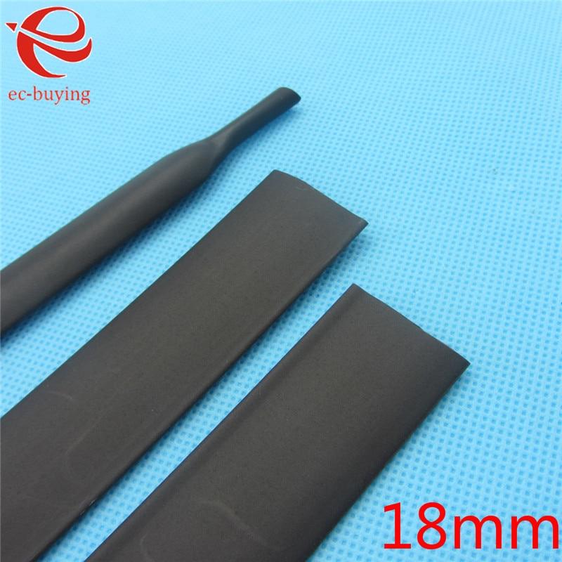 Elektronische Zubehör & Supplies 1 Mt Schrumpfschlauch 18mm Heatshrink Schwarz Innendurchmesser Wire Wrap Kabel Kit QualitäTswaren