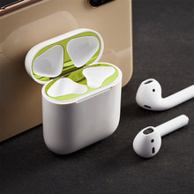 Metal Dust Guard for AirPods Earphone Case Sticker from Iron Metal Shaving Dust-proof Protector Cover Skin For AirPods Accessory(China)